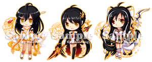 Elsword Key-ring Project: Ara all class by noirjung