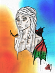 The Mother of Dragons (Digital Version) by HaleyKlineArt