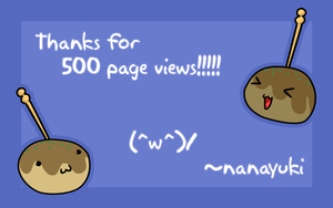 500 page views by Nanayuki
