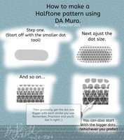 How to make a halftone pattern by GNGTNT105