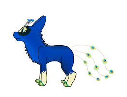 Peacock Doggie by Schuffles