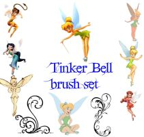 Tinker bell gimp brush set by Otakuvampire