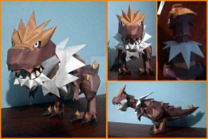 Tyrantrum papercraft by javierini