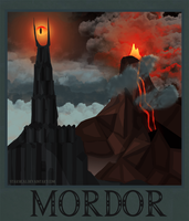 Mordor Poster by Starsical