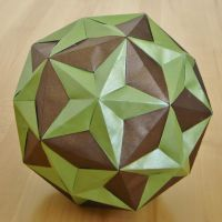 Dodecahedron/Small Triambic Icosahedron Compound by manilafolder
