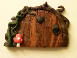 Warm Heart Fairy Door by FlyingFrogCreations