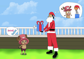 Is Usopp the best Santa Claus? by KarenNuilCoco