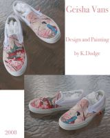 Geisha Vans by theartful-dodge
