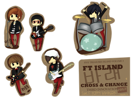Ft Island Stickers by natsumixdaxninja