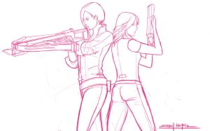 ADA WONG AND HELENA HARPER by amirulhafiz