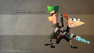 Epic Phineas and Ferb Wallpaper by RatchetMario