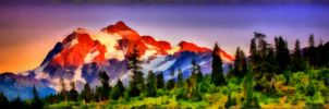 Mountains with some forest by WictimCZ