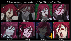 The Many Moods of Grell by Gaymazing