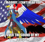 *Sounds of gunfire and freedom in the distance* by lightning-in-my-hand