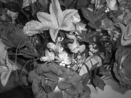 flowers black and white by sparky1393