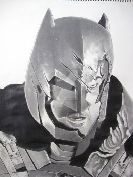 Armored Batman by corysmithart