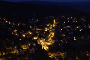 Wernigerode at night by xHanax