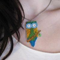 Owl Necklace by BenjiiBen