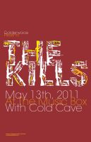 The Kills Gig Poster by Jawa-Tron