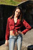 Shae - red shirt 2 by wildplaces