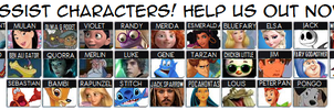 Kingdom Hearts Assist Roster by TheWolfBunny