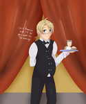 I'll be your waiter for the evening. by Psycho-Flames