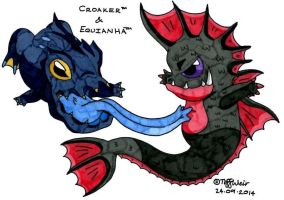 Croaker and Equianha by trinityweiss