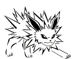 jolteon coloring pages - pikachu wearing ashes hat tribal by awiede02 on deviantart