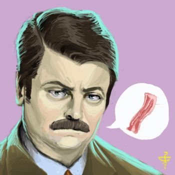 Day 2 Ron Swanson by pencilcasserole