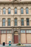 Front of Building with Windows by happeningstock