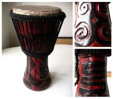 Chameleon Djembe by e-will