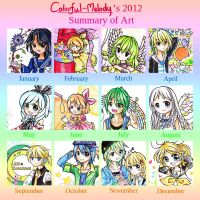 2012 Art Summary by Colorful--Melody