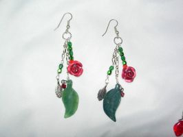 Roses are Red Earrings by Poetic-Dragon