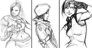 Charas sketches by kasai