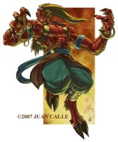 Alhab, the Ifrit by Onikaizer