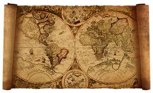 old world map by hanciong
