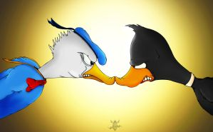 donald vs daffy by lzx