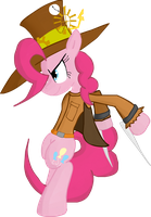 Fighter Pinkie Pie by TiXoLSeyerk