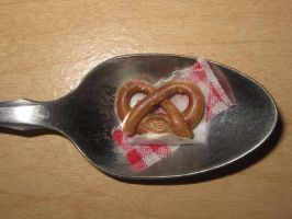 Mini German Pretzel on Spoon by sonickingscrewdriver