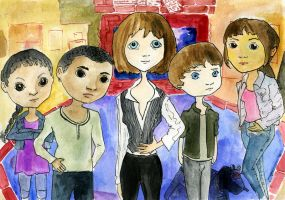 Sarah Jane Adventures as Dolls by Xanderlicous