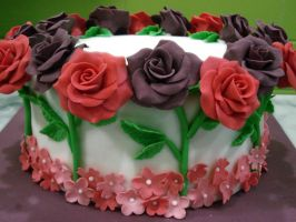 18 Rose Cake by Sliceofcake