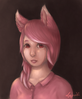 Nivi's second real portrait by StuffedPolarFox