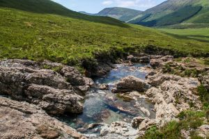 Fairy pools, Scotland by Budeltier