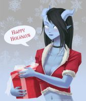 Draenei Happy Holidays by vensii