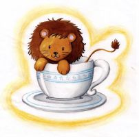 Lion in a cup by B-Keks