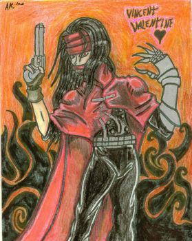 Vincent Valentine by saturninenights