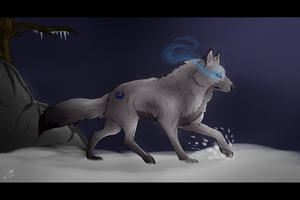 .:A Lonely Wolf:. by Jekkuilija