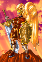 Female Warrior Angel by GaryPope