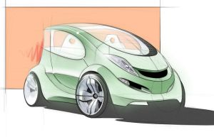 hybrid car sketch 2 by Nico4blood