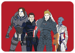 Team Free Will cosplaying Mass Effect by Esbeherel